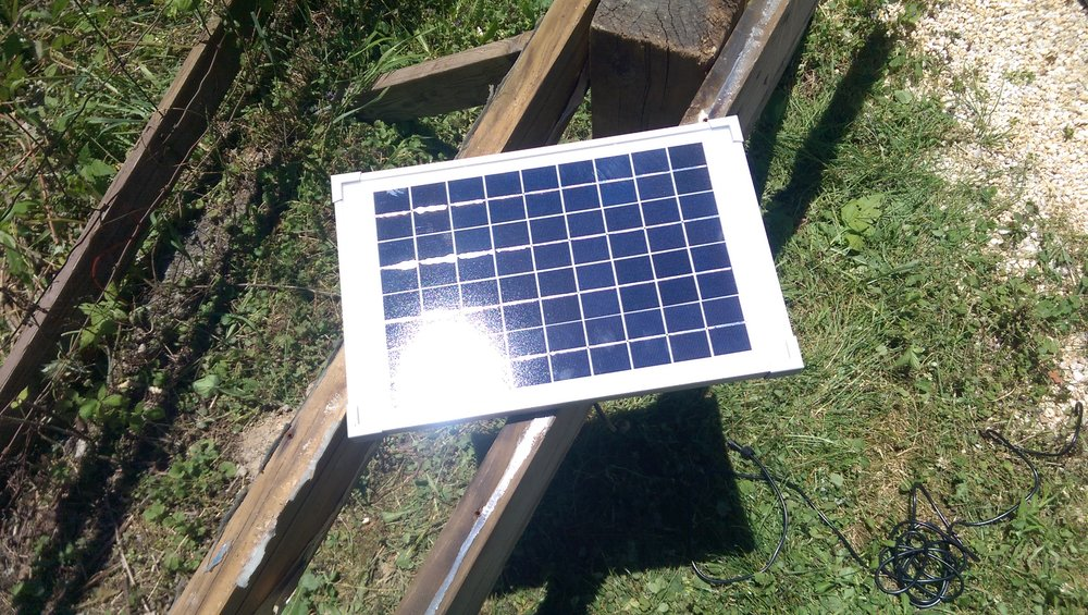 Solar panel came with the pump!