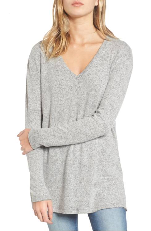 V-Neck Long Sleeve Sweater $39