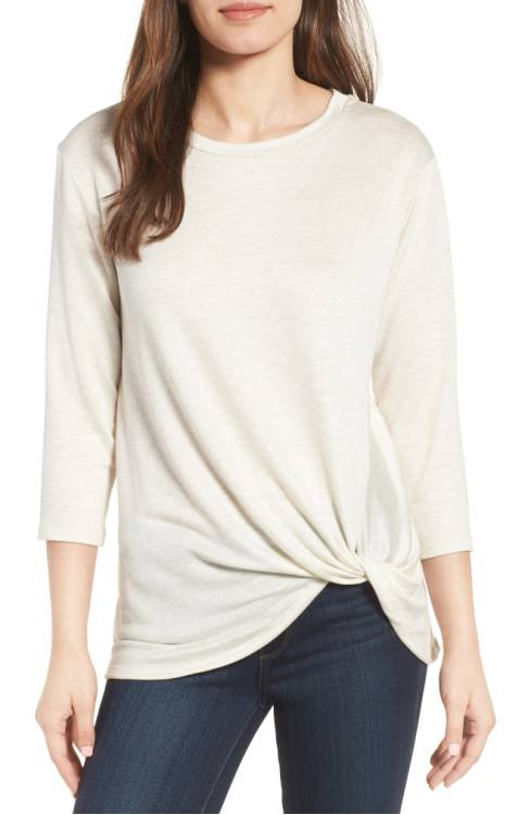 Lightweight Twist Hem Top $28.14