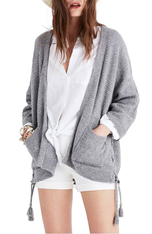 Madewell Side Lace-Up Cardigan $98