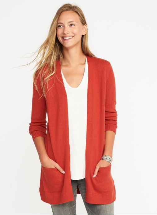 Old Navy Open-Front Long-Line Sweater $32