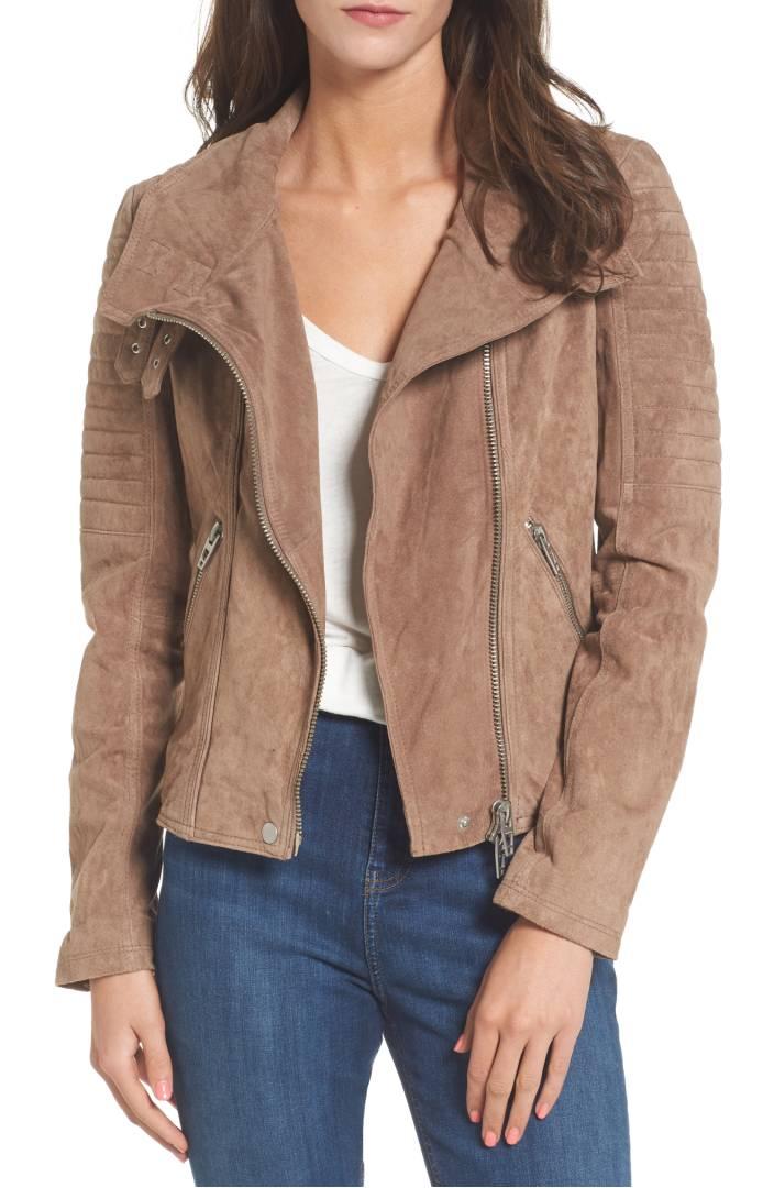 BLANKNYC Crop Suede Moto Jacket $198
