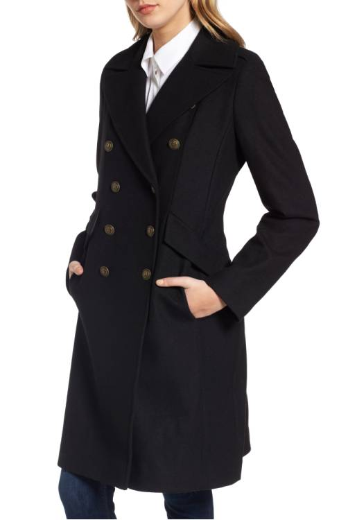 French Connection Long Blend Military Coat $109.90