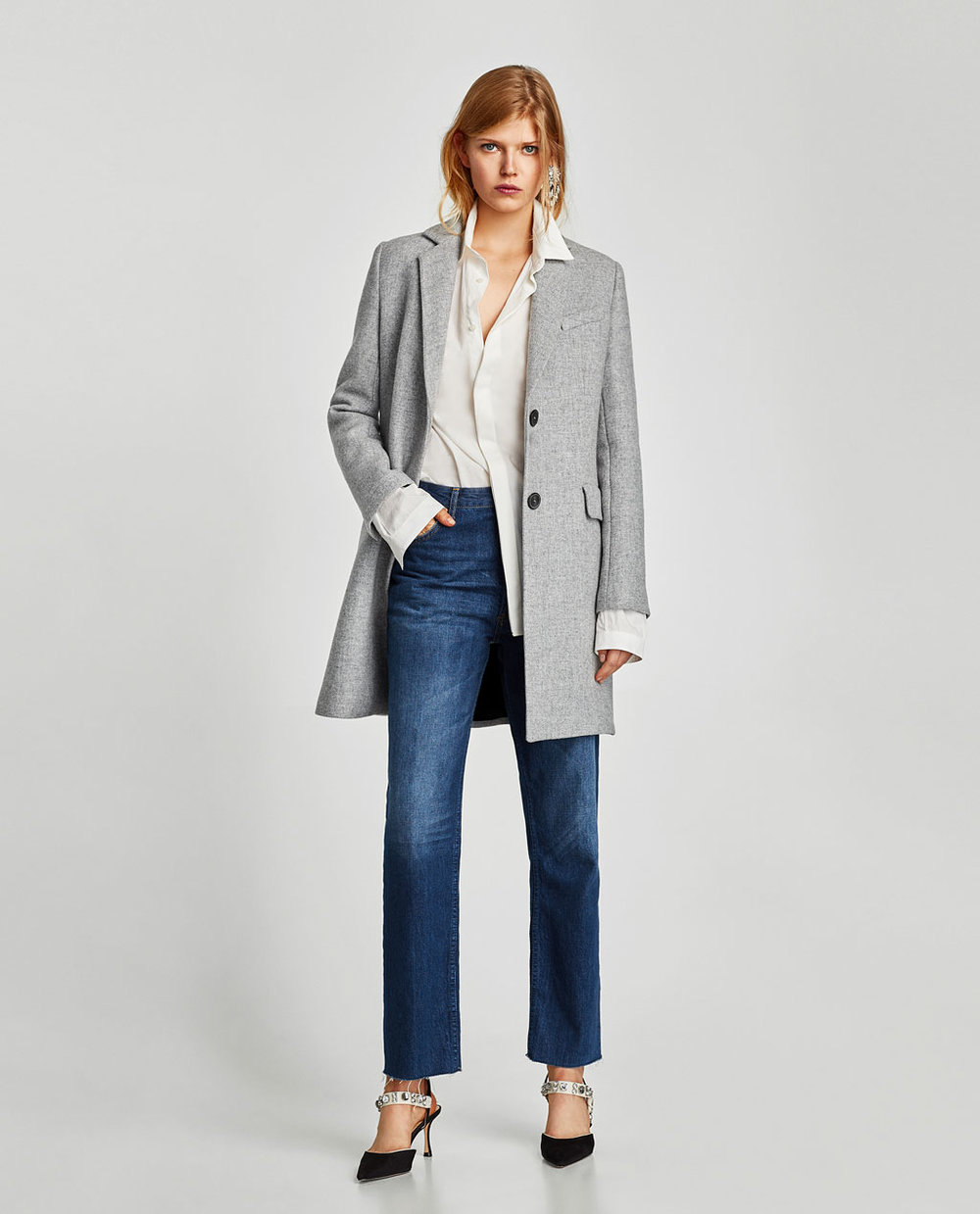 Zara Coat with Shoulder Pads $169