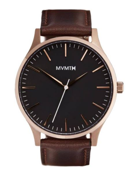 MVMT Leather Strap Watch $120