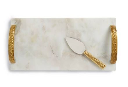 MARIGOLD ARTISANS Braid Cheese Board & Spreader $79