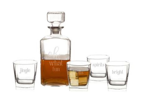 Cathy's Concepts Oh What Fun 5-Piece Decanter Set $94
