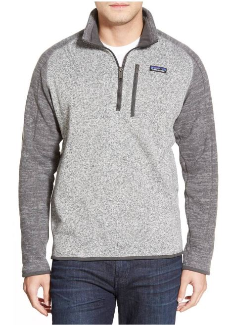 Patagonia 'Better Sweater' Quarter Zip Pullover $99