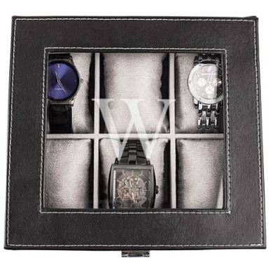 CATHY'S CONCEPTS Monogram Watch Box $63
