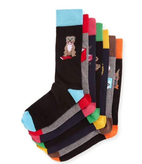 Neiman Marcus Dog Days 7-Pack of Socks $95