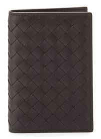 Bottega Veneta Fold-Over Leather Card Case $360
