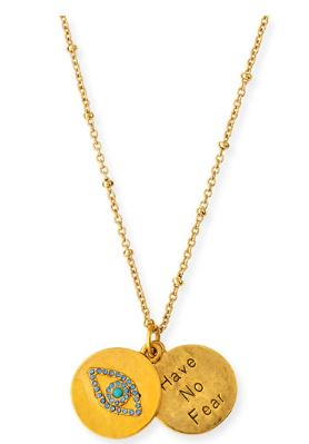 Sequin Evil Eye Talisman Necklace $98