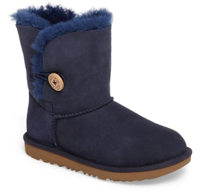 UGG Bailet Button II Water Resistant Genuine Shearling Boot $110