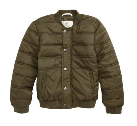 TUCKER + TATE Quilted Nylon Bomber Jacket $59