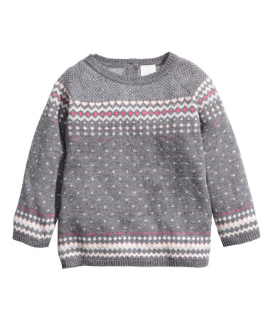 H&M Jacquard-knit Sweater $15