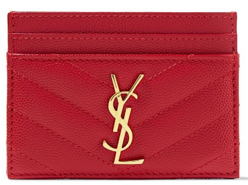 Saint Laurent Quilted textured-leather cardholder $250