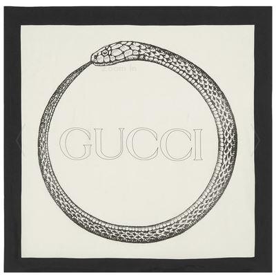 GUCCI Printed silk-twill scarf $470