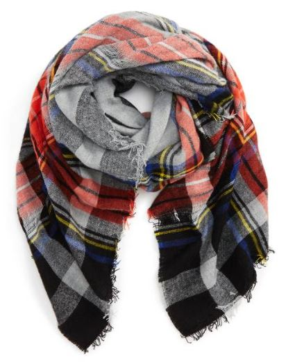 BP. David & Young Contrast Plaid Square Scarf $24