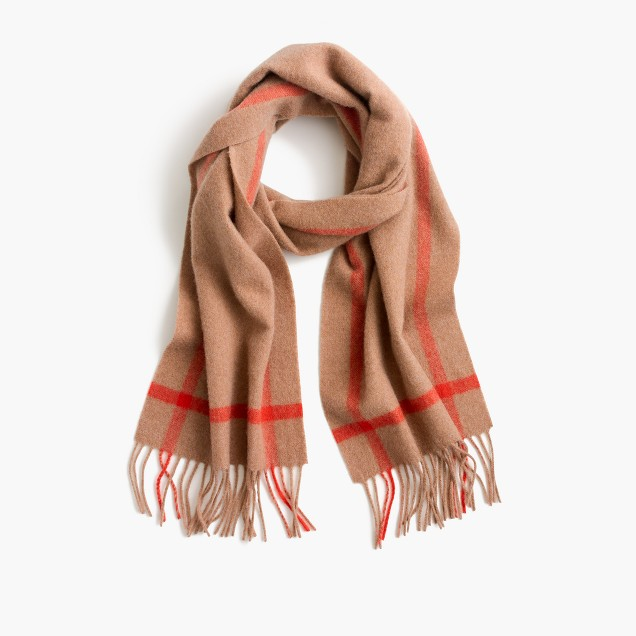 J. Crew Contrast cashmere scarf $98 25% OFF FULL PRICE W/ CODE CHACHING