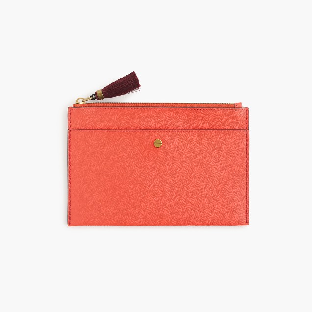 J. Crew Medium pouch in Italian leather $45 25% OFF FULL PRICE W/ CODE CHACHING