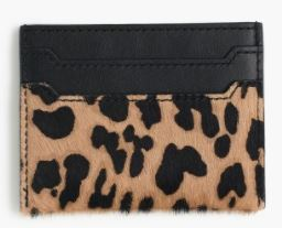 J.Crew Card case in calf hair $34.50 25% OFF FULL PRICE W/ CODE CHACHING