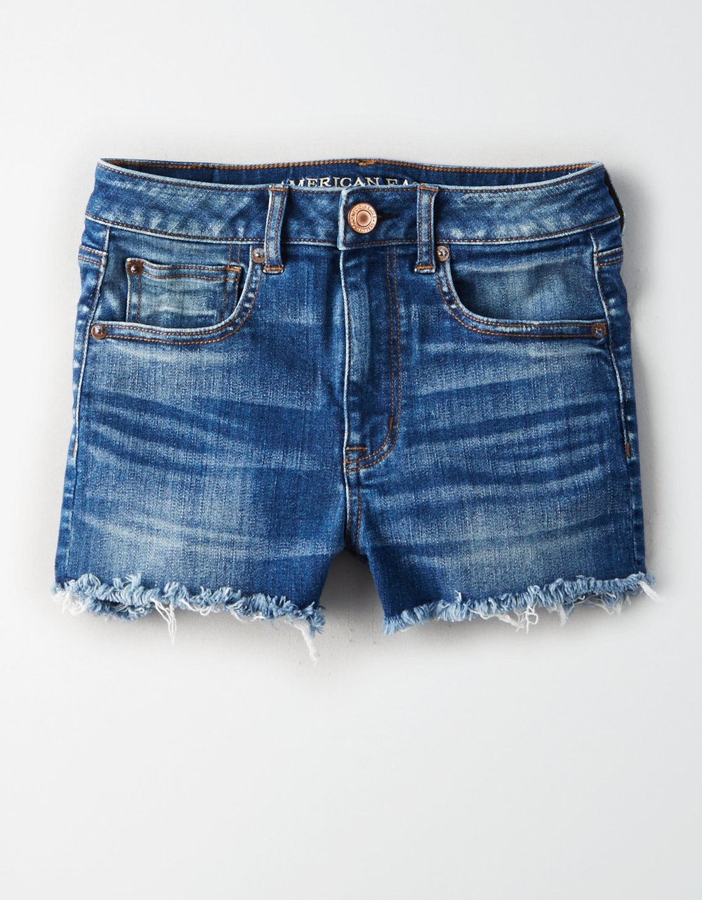 AE SUPER HIGH-WAISTED DENIM SHORT SHORT $44.95