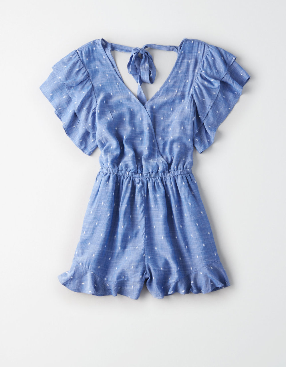 AE TIE BACK WRAP FRONT ROMPER $49.95