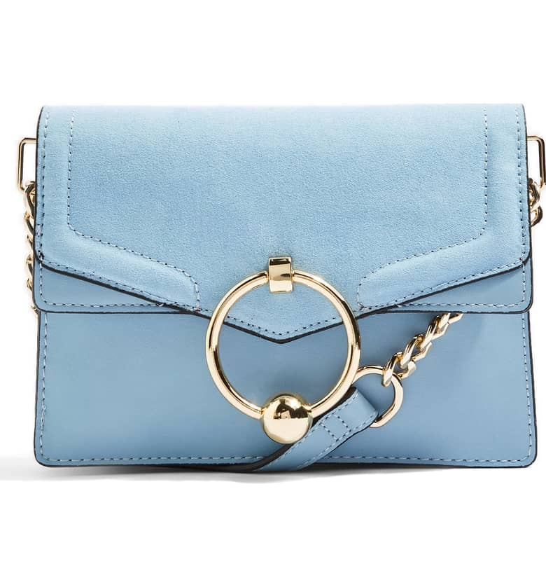 TOPSHOP Seline Faux Leather Crossbody Bag $48