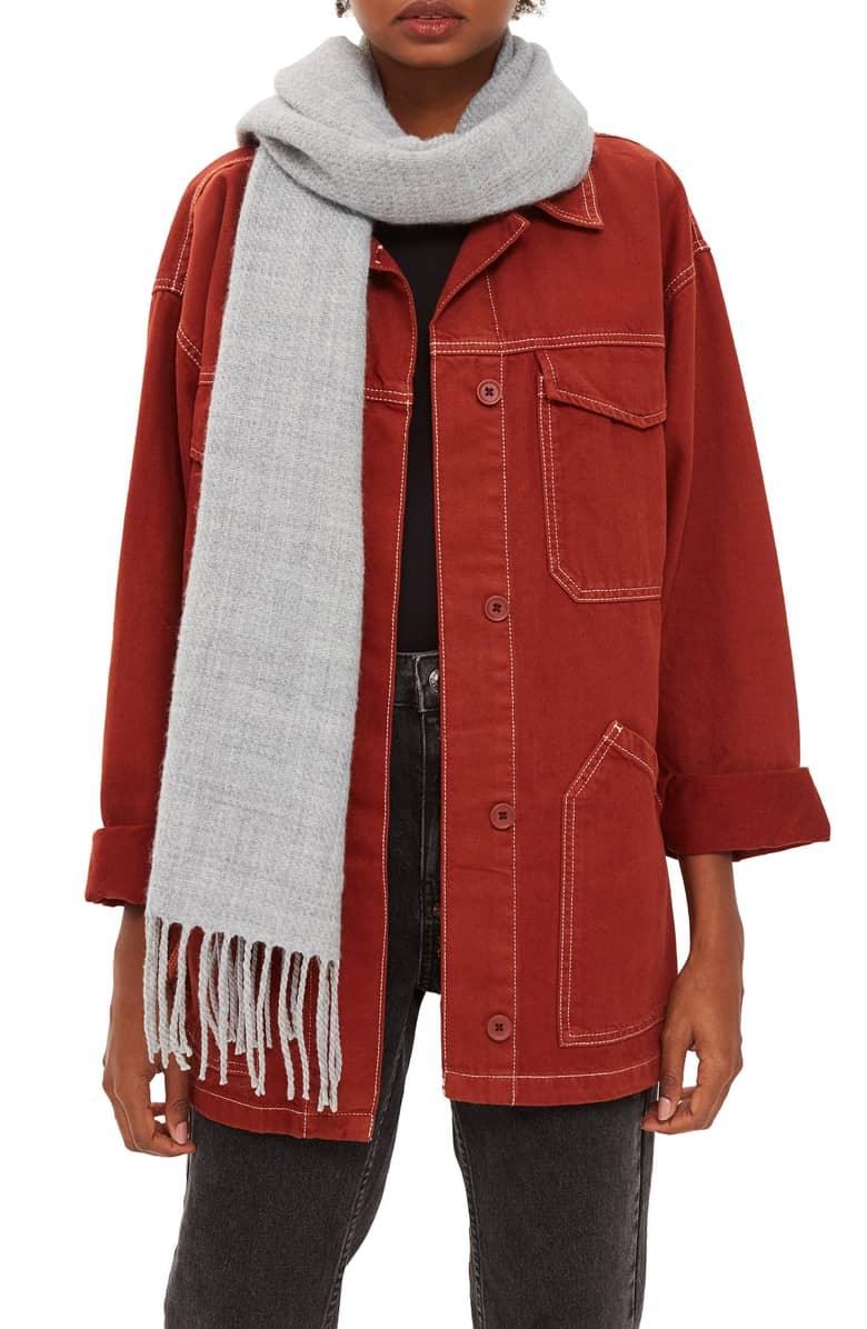 TOPSHOP Supersoft Fringe Scarf $26