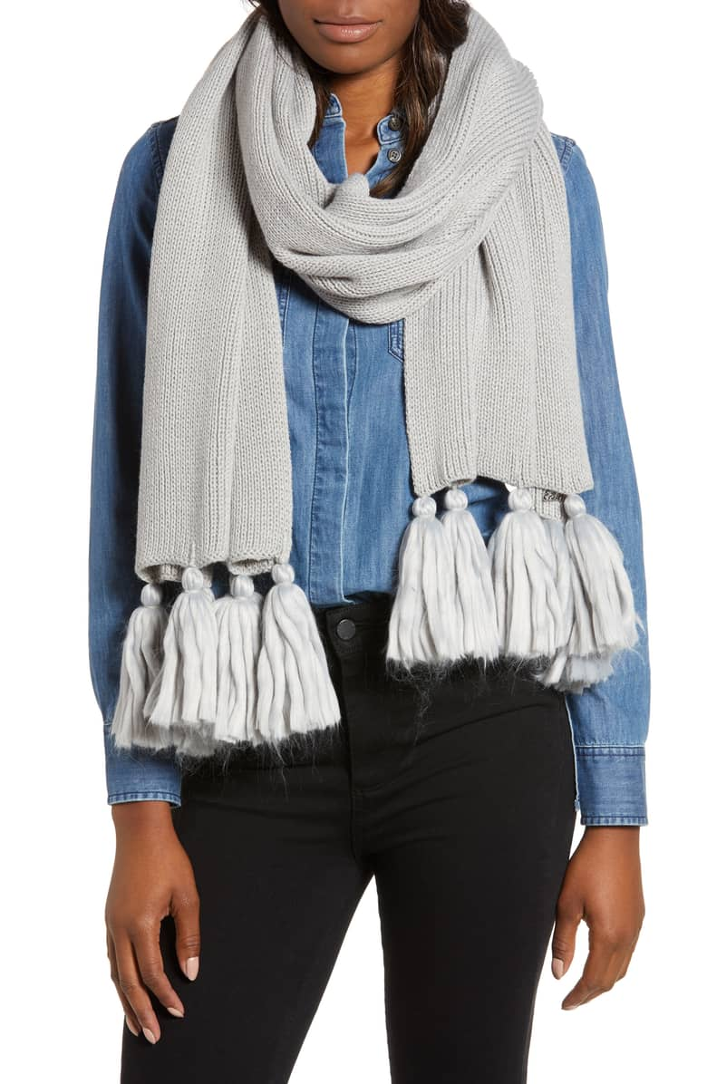ECHO Maxi Tassel Muffler $59 (Comes in 7 colors)