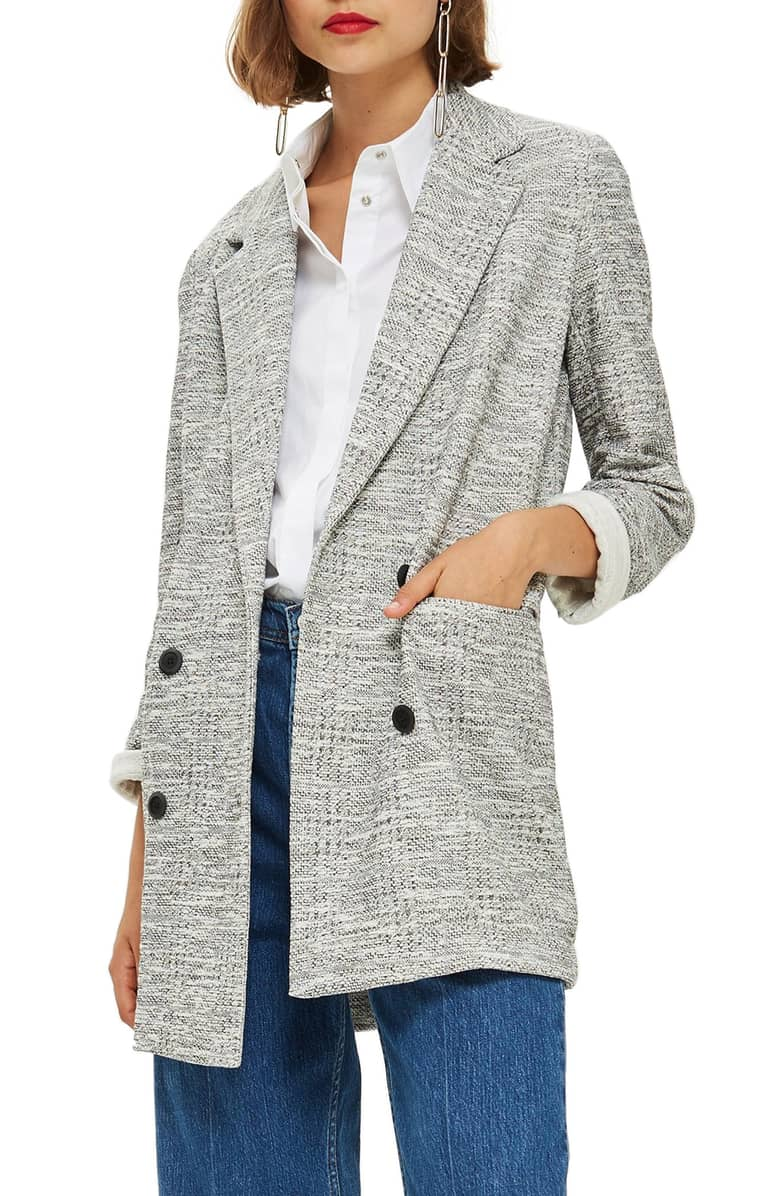 TOPSHOP Sam Double Breasted Coat $95