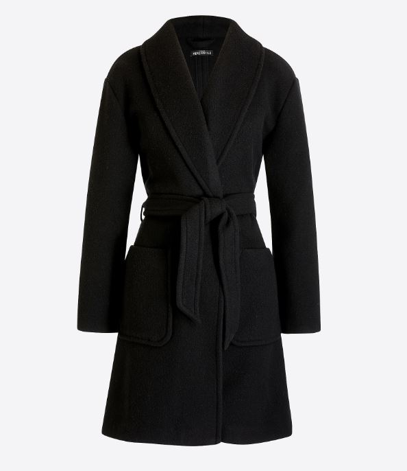 J.Crew Belted wrap coat $148