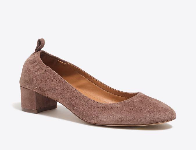 J.Crew Anya suede block heels $89