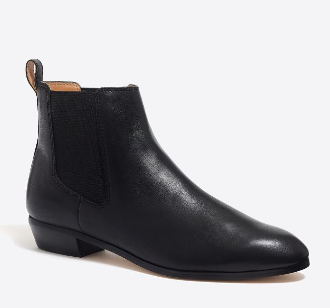 J. Crew Leather Chelsea Boots $125.00