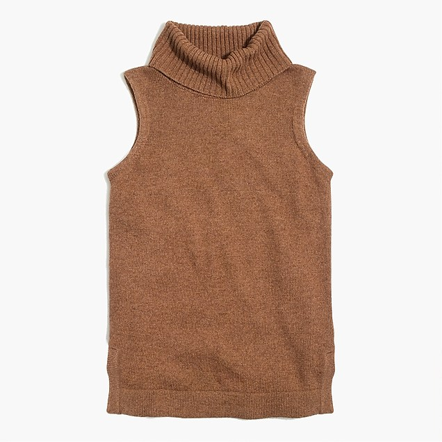 J.Crew Turtleneck sweater tank top $49.50