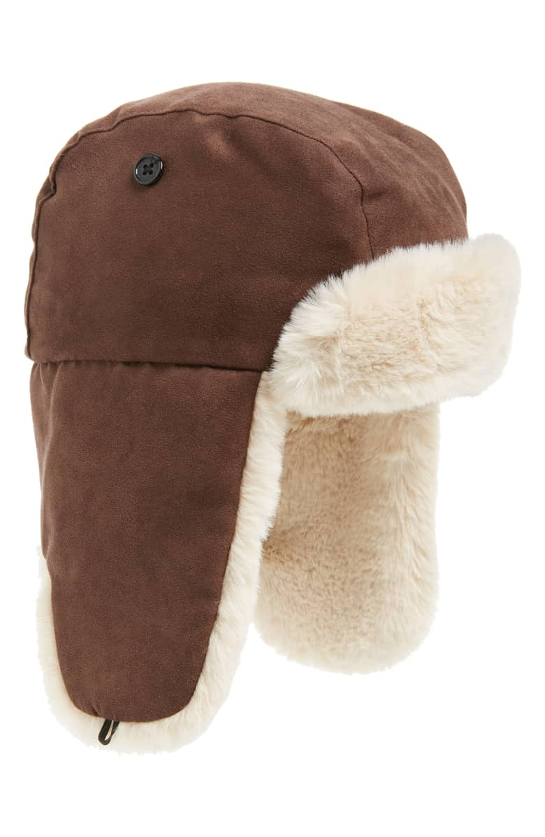 CrewCuts by J.Crew Faux Fur Lined Trapper Hat