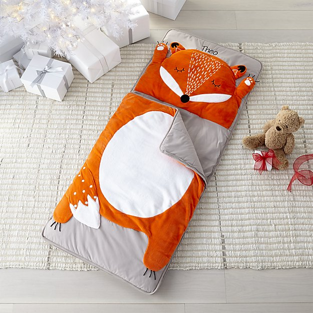 Crate & Kids How Do You Zoo Fox Toddler Sleeping Bag