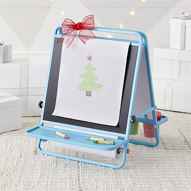 Crate & Kids Blue Table Top Easel
