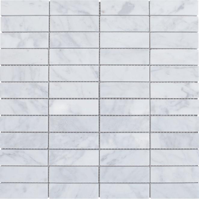 "1x3"" Carrara Mosaic Tile"