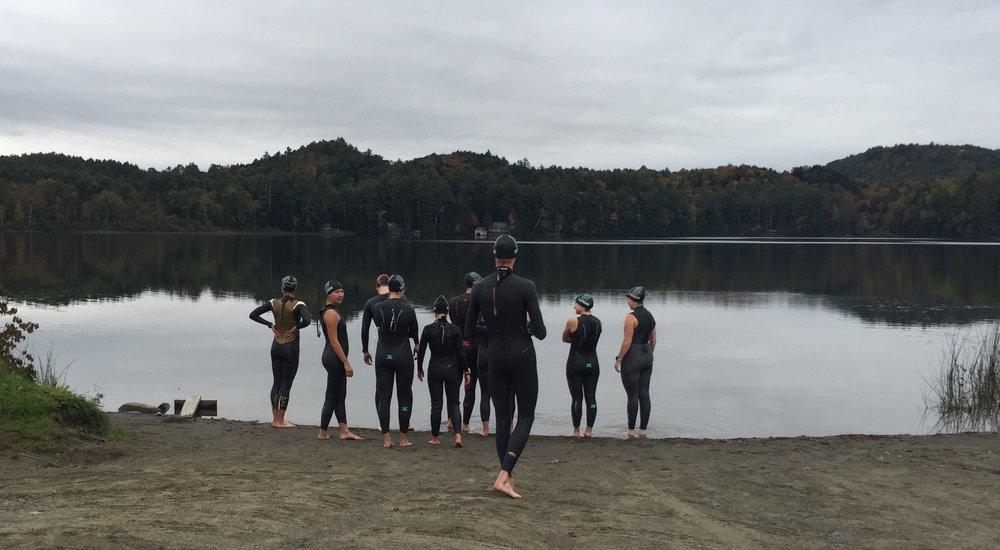 Post Pond Open Water Triathlon Swimming
