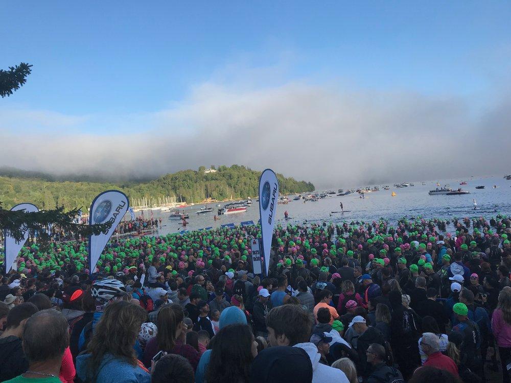 IRONMAN Mont-Tremblant Swim Start