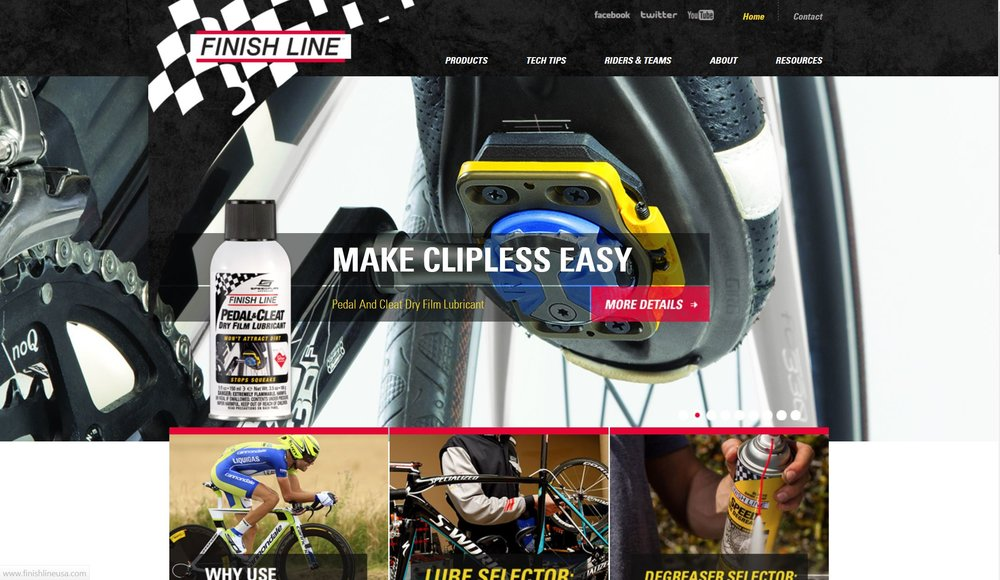 Finish Line Website Work