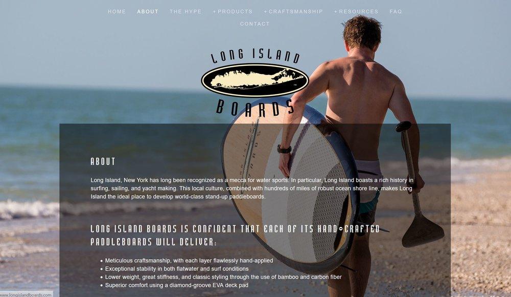 Long Island Boards Website Work