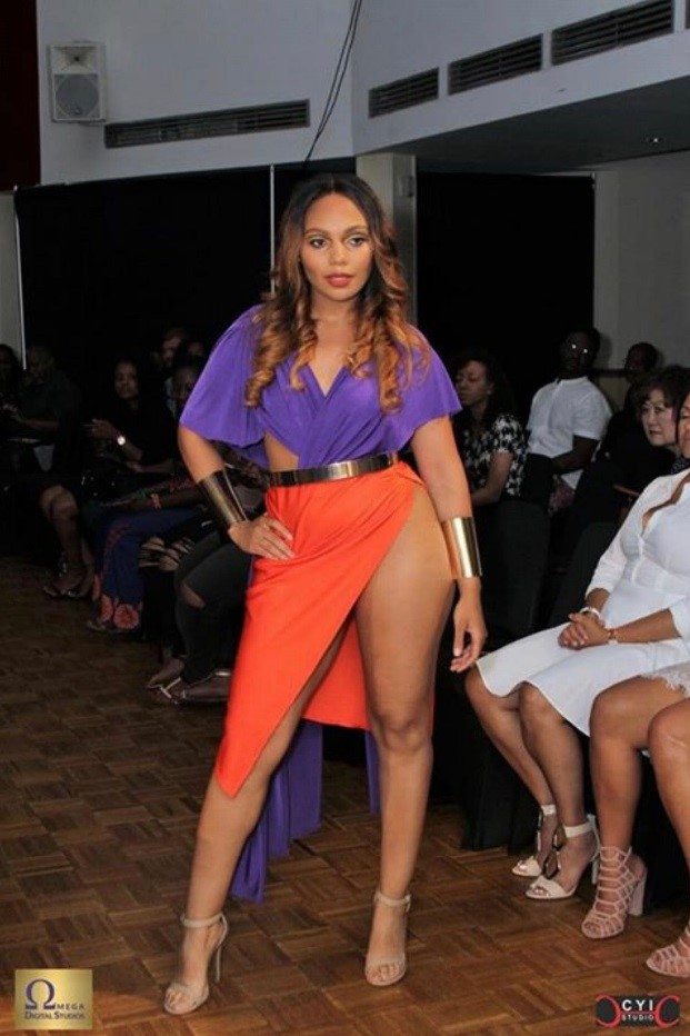 Erykah Chanel working the runway for designer Envieux!