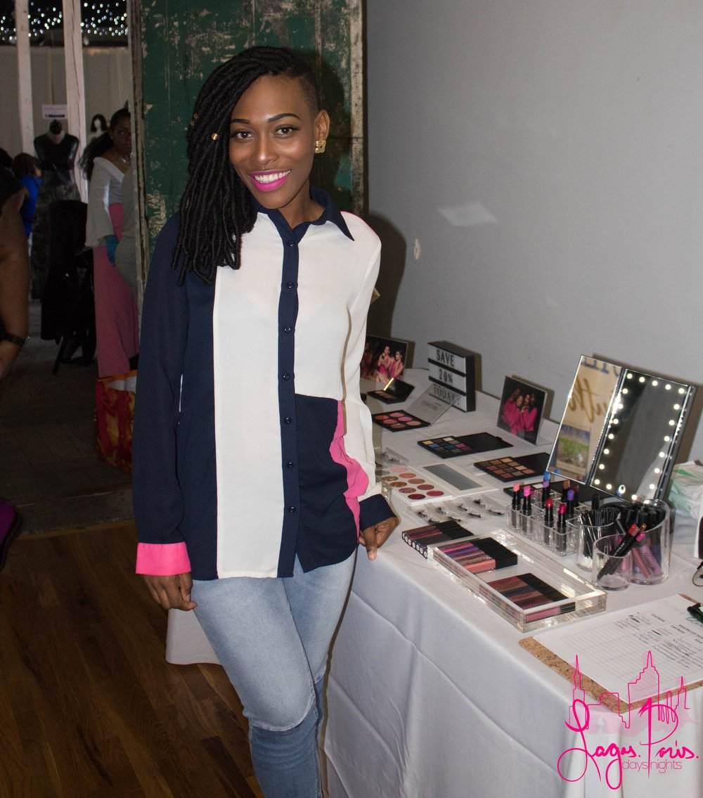 Geraldine Legros, the beauty and brains behind Glamour Up Cosmetics.