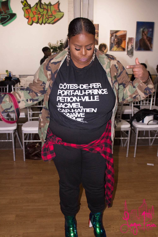 Bèl Monique Magazine Editorial Graphic Designer, Fena Fenalon, shows off her fly fit.