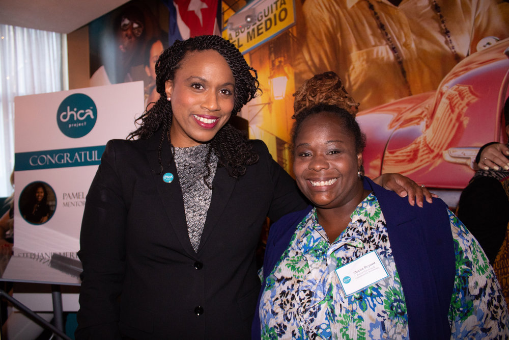 Shana Bryant (right) and Boston City Councillor, Ayanna Pressley.
