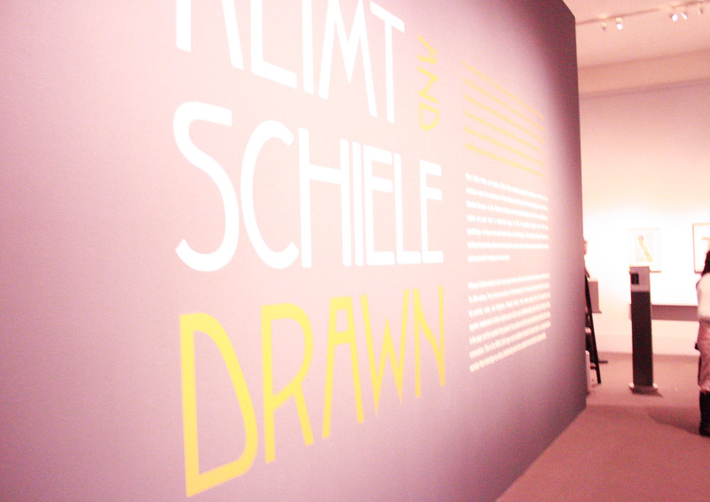 The live drawing demo took place in the Klimt and Schiele: Drawn exhibit.