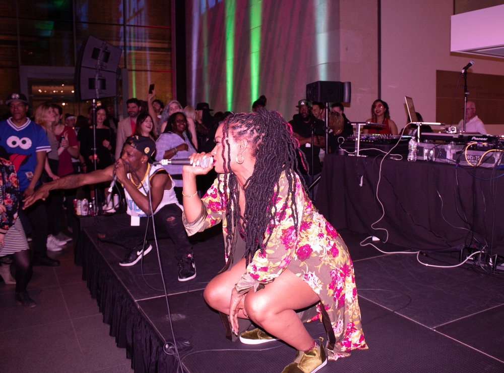 Dutch Rebelle during her energetic performance.