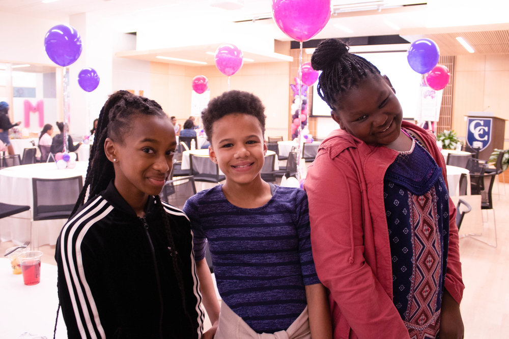 Three of the amazing middle school conference attendees.